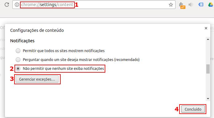 Desativando as notificações de sites no Google Chrome (Foto: Reprodução/Edivaldo Brito)