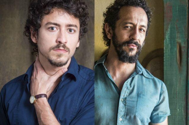 Jesuíta Barbosa e Irandhir Santos (Foto: Renato Rocha Miranda e Estevam Avellar/TV Globo)