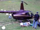 Preso com cocaína em helicóptero faz parte de quadrilha do MS, aponta auto