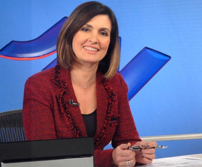 Fátima na época do Jornal Nacional (Foto: CEDOC/TV Globo)