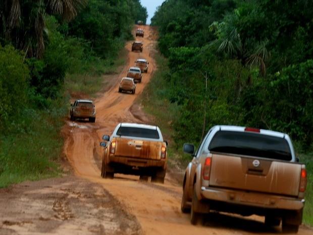 Rodovia estadual MT-322 corta área indígena no norte de Mato Grosso. (Foto: Chico Valdiner/GCom-MT)