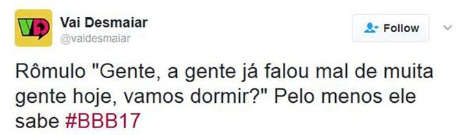 Tweet Rômulo (Foto: Reprodução Internet)