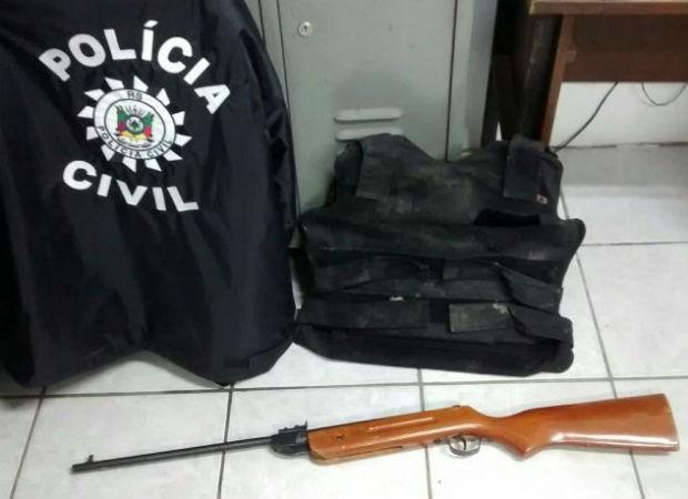 Mulher morreu após projétil atravessar colete à prova de balas durante teste (Foto: Polícia Civil/Divulgação)
