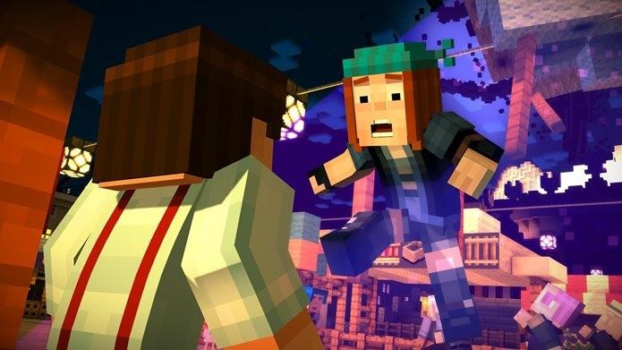 Minecraft Story Mode está legendado em português do Brasil (Foto: Divulgação / Telltale Games)
