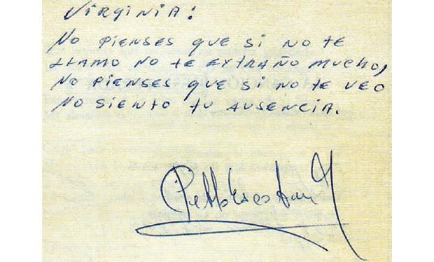 Poema de Escobar para a jornalista (Foto: Arquivo Pessoal)