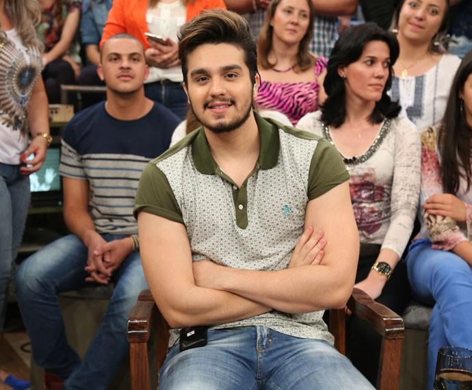 Luan Santana participa da gravação do programa Altas Horas (Foto: Carol Caminha/Gshow)