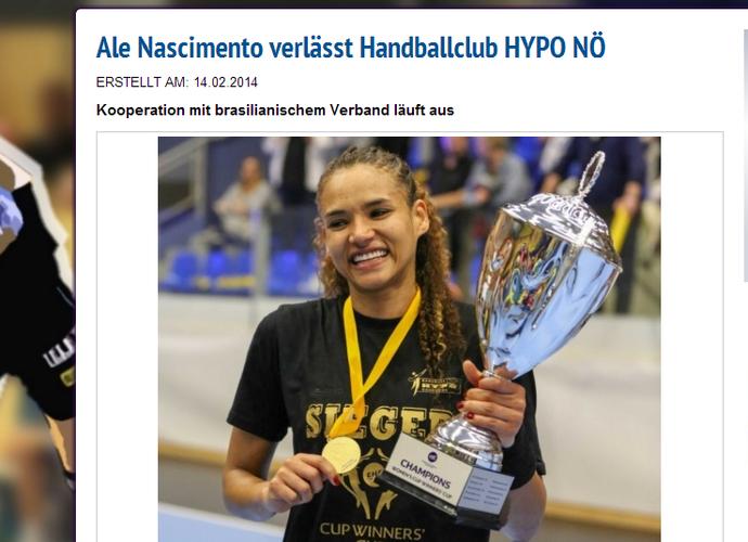 Hypo se despede de Alexandra e do restante das brasileiras (Foto: Reprodução/Site oficial Hypo)