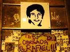 Cissa Guimarães coloca nova placa em homenagem ao filho em túnel