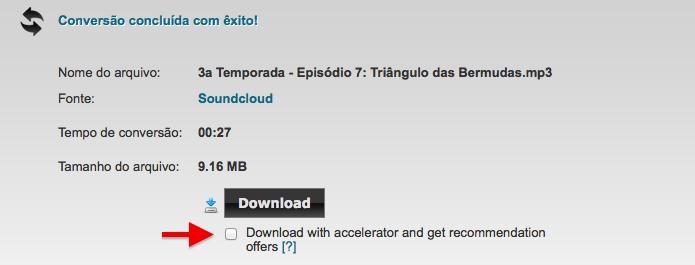 Baixando música do SoundCloud (Foto: Reprodução/Helito Bijora)