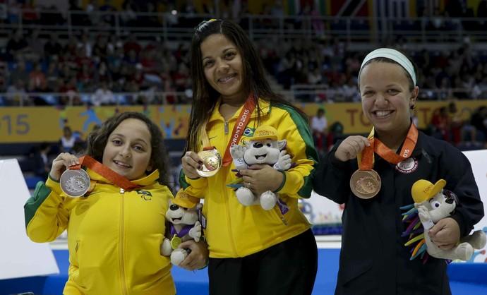 Joaninha e Esthefany de Oliveira garantiram dobradinha para o Brasil no Parapan de Toronto (Foto: Washington Alves/MPIX/CPB)