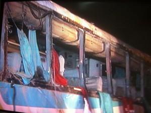 No ônibus havia 42 passageiros além de dois motoristas. (Foto: Reprodução/InterTV)