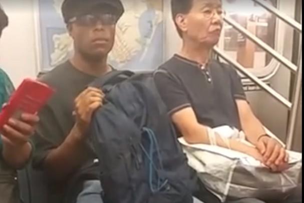 Usuário acusado de se masturbar no metrô foi preso após vídeo viralizar na web (Foto: Reprodução/Facebook)