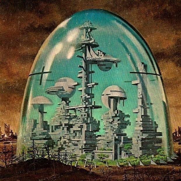Ilustração de Dean Ellis sobre cidade do futuro (Foto: Reprodução/Pinterest)