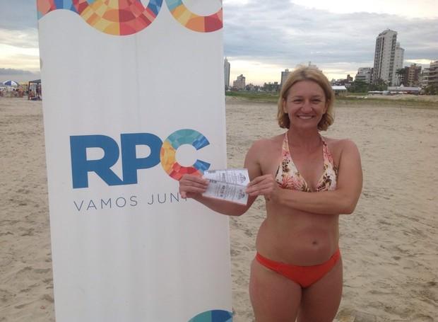 Vanda Ponijaleski foi uma das ganhadoras do desafio da RPC (Foto: Divulgação/ RPC)