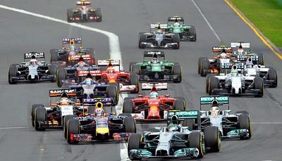 Largada GP da Austrália 2014 (Foto: AFP)