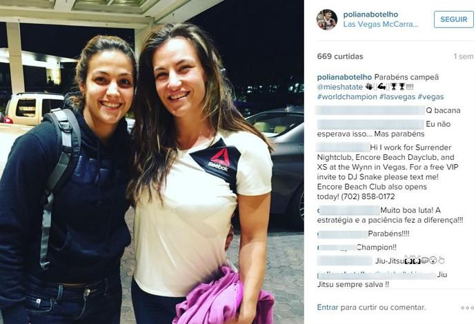 Poliana Botelho e Miesha Tate no Instagram (Foto: Reprodução/Instagram)