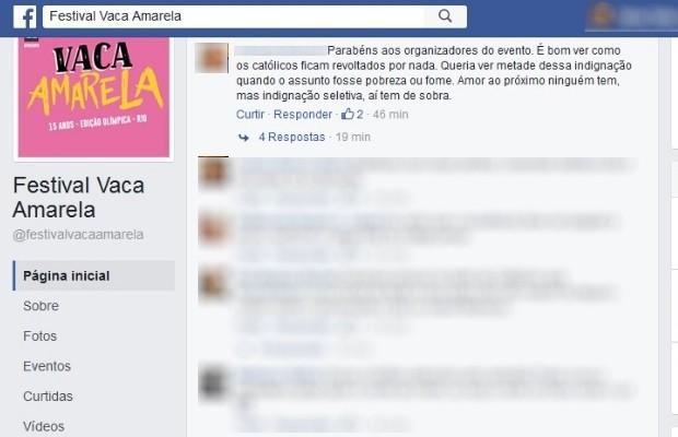 Imagem de santa pop usada para divulgar festival gera polêmica na web em Goiás (Foto: Reprodução/Facebook)