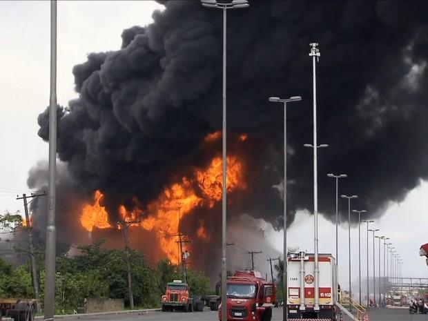 BDBR - Incêndio Santos (Foto: Rede Globo)