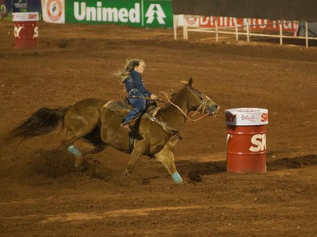 Ana Carolina Cardozo, de Araraquara, SP, foi a vencedora dos Três Tambores (Foto: Érico Andrade/G1)