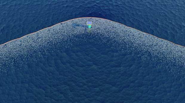 As barreiras atingem uma profundidade de três metros (Foto: Reprodução)