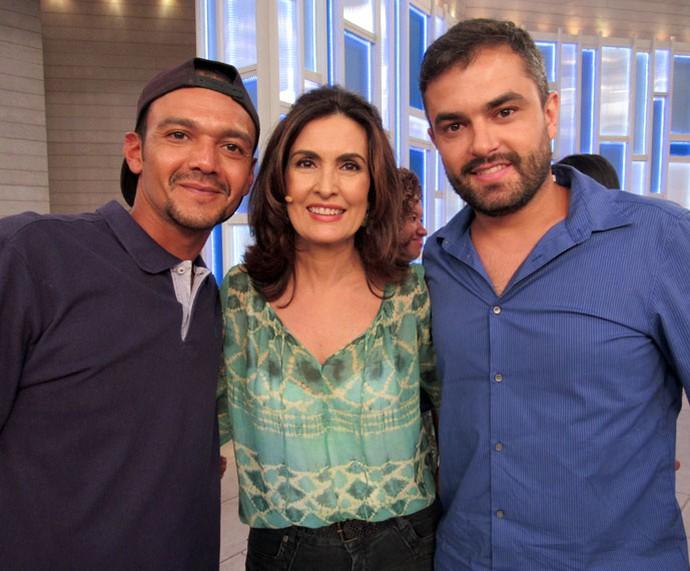 Convidados do programa com a Fátima  (Foto: Priscilla Massena/Gshow)