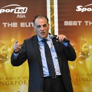 javier tebas, presidente de la liga (Foto: ROSLAN RAHMAN / AFP)