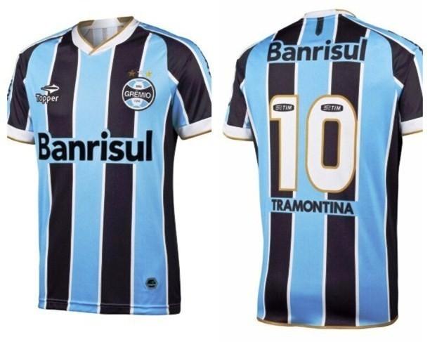 Grêmio lança camiseta com detalhes dourados para a Libertadores ... f805bc62fd654