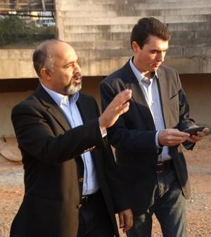 Ministro do Esporte, George Hilton e prefeito de Juiz de Fora Bruno Siqueira e secretária Elizabeth Jucá (Foto: Bárbara Almeida/GloboEsporte.com)