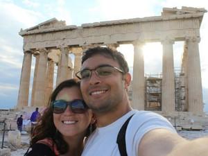 A Grécia foi um dos países que mais encantaram o casal (Foto: Arquivo pessoal)