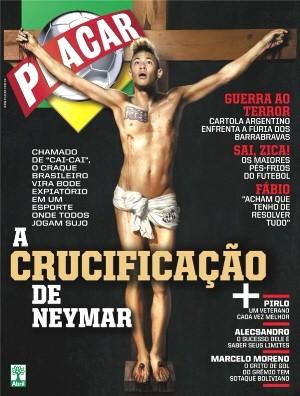 Capa da revista deste mês com o atacante santista (Foto: Divulgação/Revista Placar)