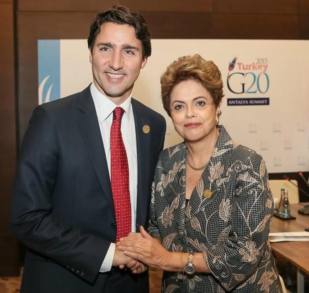 A presidente Dilma Rousseff durante encontro com o primeiro-ministro do Canadá, Justin Trudeau (Foto: Roberto Stuckert Filho/Presidência da República)