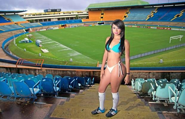 Jessica Lorraine Bento Pereira é a musa do Grêmio Anápolis no Goianão 2014 (Foto: Divulgação/Camila Fontanive)