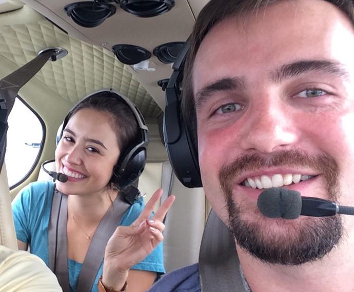 Max Fercondini e Amanda Richter viajaram juntos pelo Brasil (Foto: Divulgação)