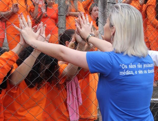 Andressa Urach no Presídio Feminino de Florianópolis (Foto: Arquivo pessoal)