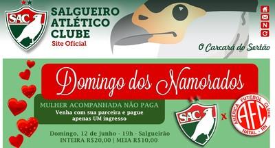 Salgueiro, promoção (Foto: Reprodução / Site oficial do Salgueiro)
