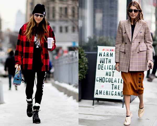 Contraste: xadrez vermelho e bege claro (Foto: Imaxtree)