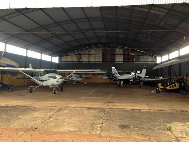 Angar do Aeroclube de Porto Velho (Foto: Ivanete Damasceno/G1)