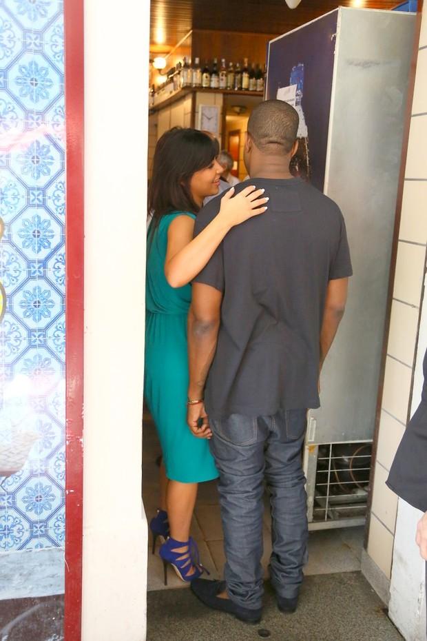 Kim Kardashian e Kanye West (Foto: Gabriel Reis e MArcelo Sá Barreto/ Ag. News)
