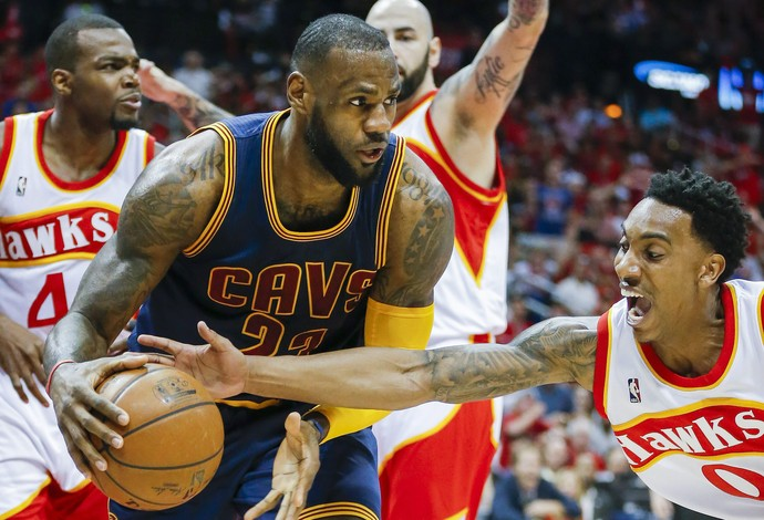 Atlanta Hawks x Cleveland Cavaliers jogo 2 final Leste NBA LeBron James basquete (Foto: EFE)