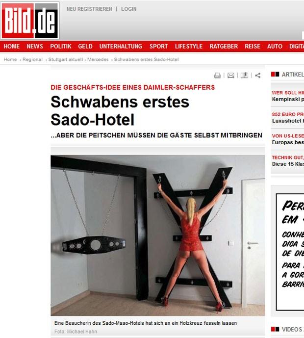 Subúrbio de Stuttgart, na Alemanha, inaugurou um hotel sadomasoquista. (Foto: Reprodução/Bild)