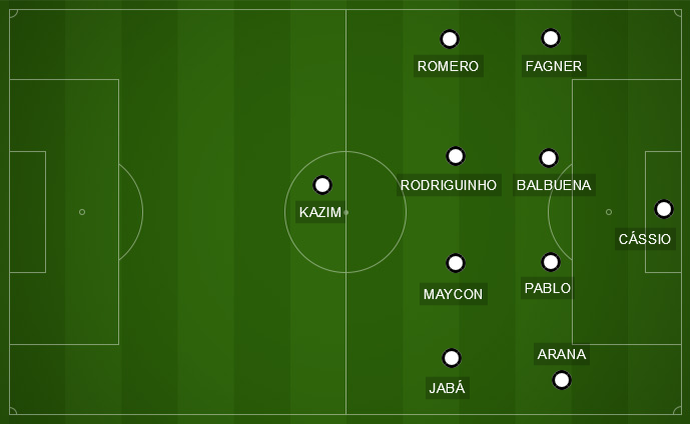 Corinthians x Palmeiras - campinho (Foto: GloboEsporte.com)