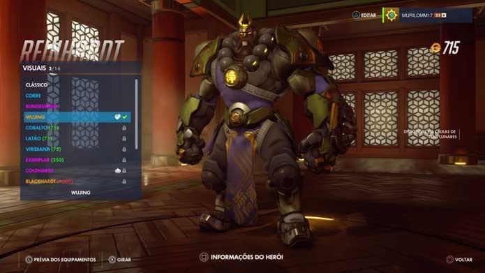 Grandalhão também recebeu visual oriental em Overwatch (Foto: Reprodução/Murilo Molina)