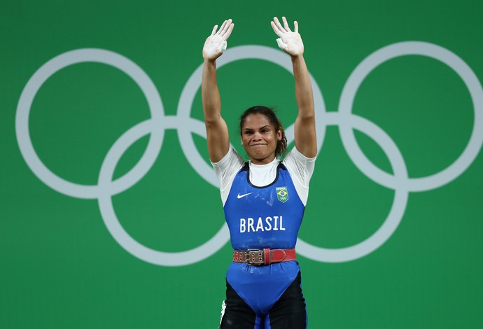 Rosane Reis levantamento de peso Rio 2016 categoria 53kg (Foto: Getty Images)