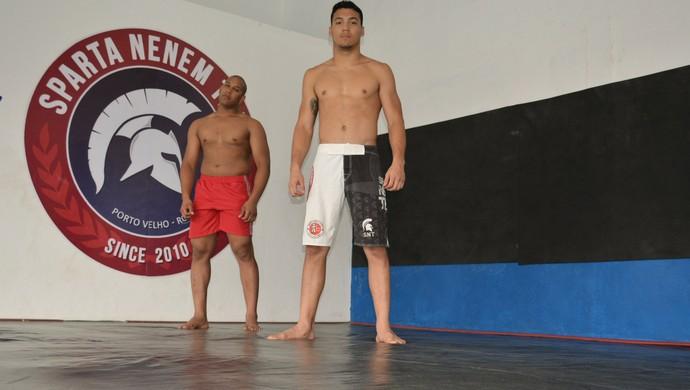 Ranger e Yan treinam para o Áspera FC (Foto: Jheniffer Núbia)
