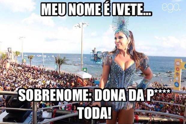 Ivete Sangalo meme (Foto: Mauro Zaniboni /Ag Haack)