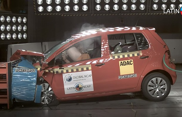 Volkswagen Fox em crash test do Latin NCAP (Foto: Latin NCAP)