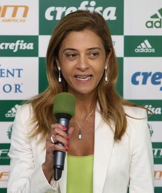 Leila Pereira Crefisa (Foto: César Greco / Ag. Palmeiras / Divulgação)