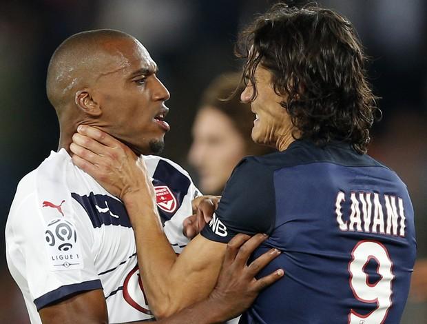 Cavani e Belay brigam Paris Saint-Germain PSG x Bordeaux