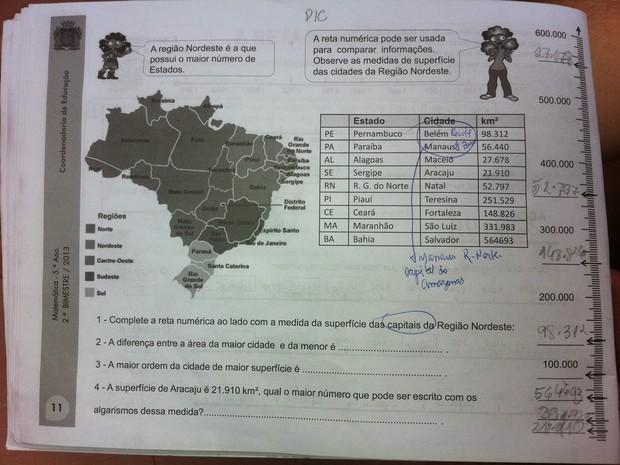 Apostila distribuída em escolas do Rio erra capitais de estados do NE Apostila_capitais