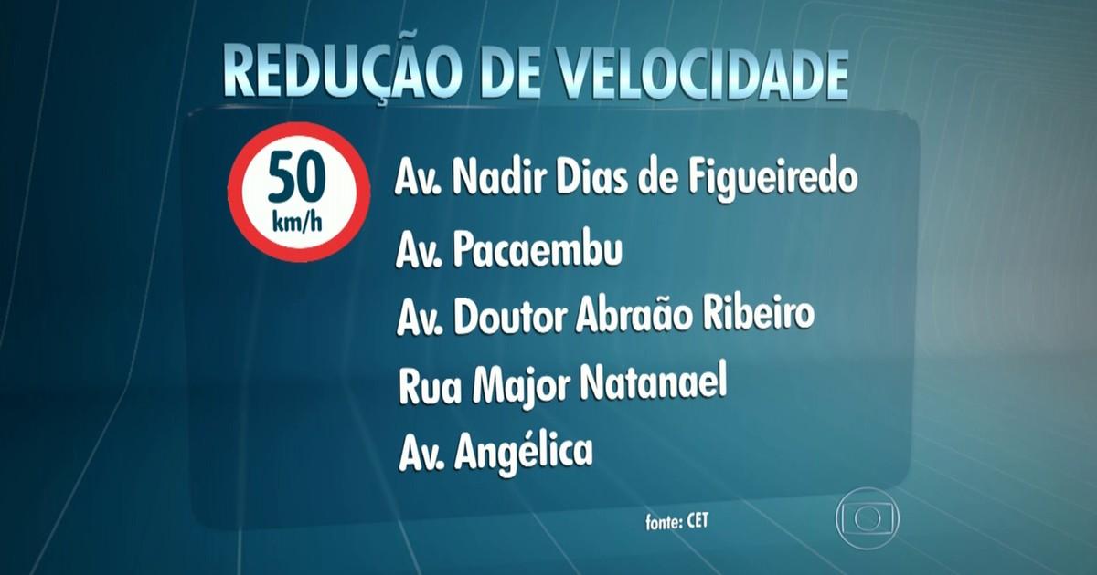 Avenidas Angélica e Pacaembu passam a ter limite de 50 km/h